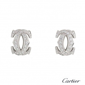 C de Cartier Diamond White Gold Earrings N8020200